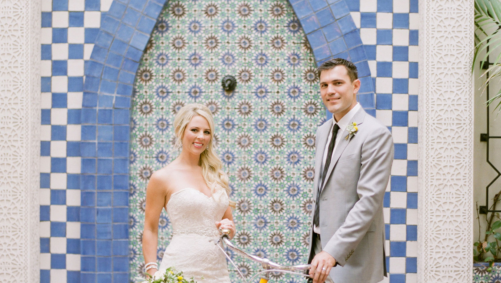 mediterranean style wedding in santa barbara